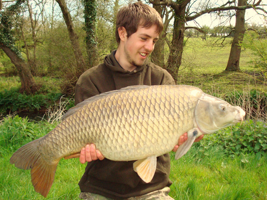 25lb 8oz Common Carp From River Farm Carp Fishing
